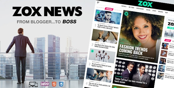 Download free Zox News v3.4.0 – Professional WordPress News