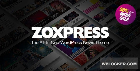 Download free ZoxPress v1.07.0 – All-In-One WordPress News Theme