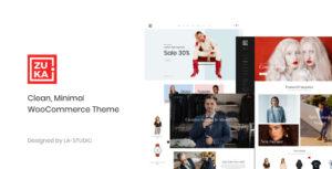 Download free Zuka v1.0.9 – Clean, Minimal WooCommerce Theme