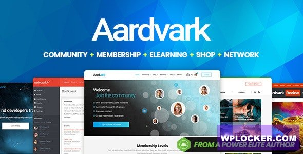 Download free Aardvark v4.23 – Community, Membership, BuddyPress Theme