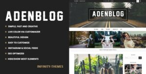 Download free Aden v3.1.4 – A WordPress Blog Theme