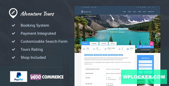 Download free Adventure Tours v3.9.1 – WordPress Tour/Travel Theme