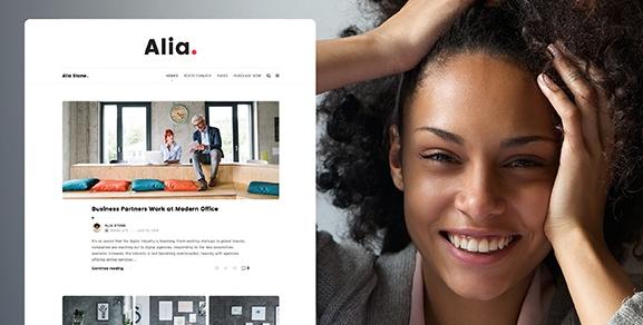 Download free Alia v1.43 – Minimal Personal Blog