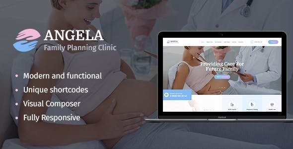Download free Angela v1.1.1 – Family Planning Clinic WordPress Theme