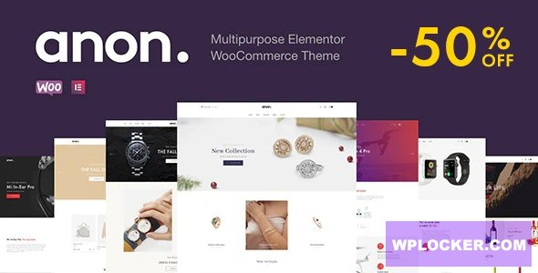 Download free Anon v1.5.3 – Multipurpose Elementor WooCommerce Themes