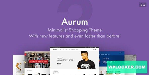 Download free Aurum v3.6.1 – Minimalist Shopping Theme
