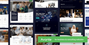 Download free Avante v1.6 | Business Consulting WordPress Theme 1.6