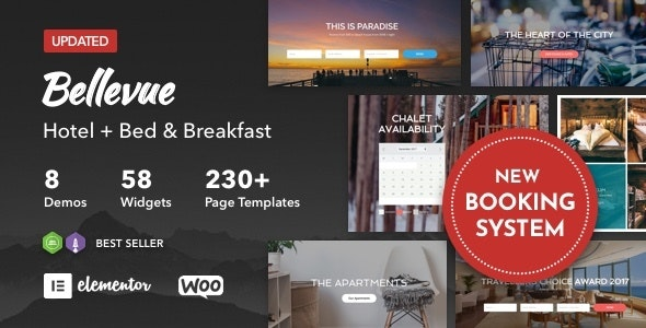 Download free Bellevue v3.2.8 – Hotel + Bed and Breakfast Booking Calendar Theme
