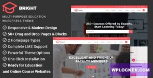 Download free Bright v2.1.4 – Education & Online Course WordPress Theme