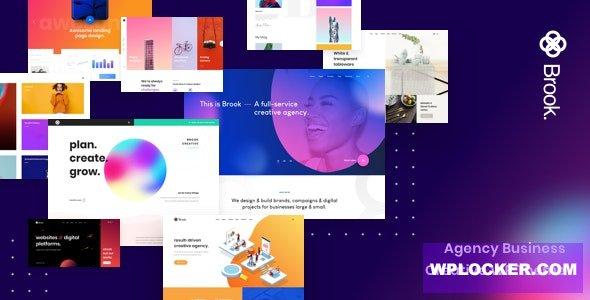 Download free Brook v2.0.1 – Agency Business Creative WordPress Theme