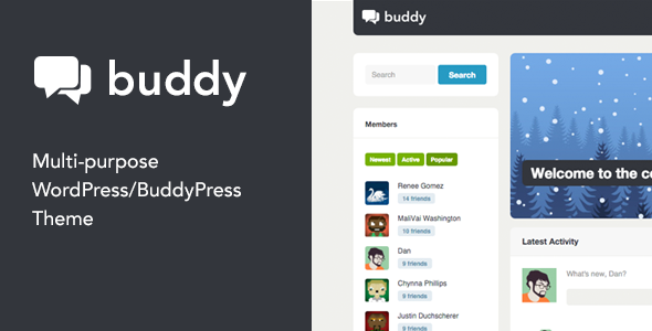 Download free Buddy v2.21.1 – Multi-Purpose WordPress / BuddyPress Theme