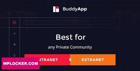 Download free BuddyApp v1.8.4 – Mobile First Community WordPress theme