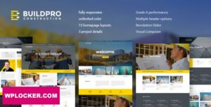 Download free BuildPro v1.0.9.8 – Business, Building & Construction WordPress Theme