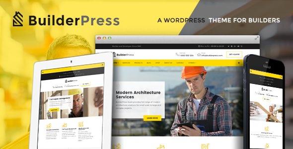 Download free BuilderPress v1.2.2 – WordPress Theme for Construction