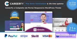 Download free Careerfy v4.2.0 – Job Board WordPress Theme