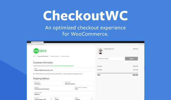 Download free CheckoutWC v3.7.1 – Optimized Checkout Page for WooCommerce