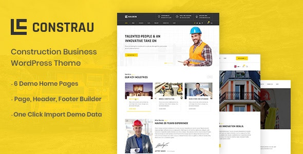 Download free Constrau v1.1.2 – Construction Business WordPress Theme