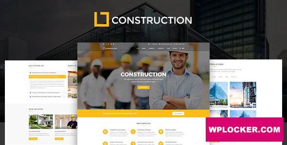 Download free Construction v1.0.9.4 – Business & Building Company Theme