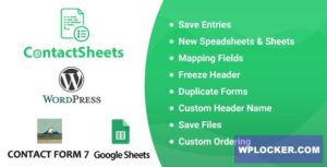 Download free ContactSheets v1.8 – Contact Form 7 Google Spreadsheet Addon