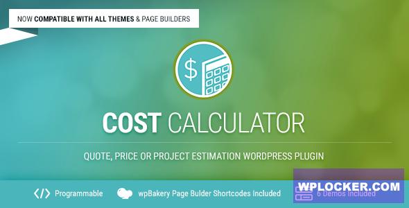 Download free Cost Calculator v2.3.1 – WordPress Plugin