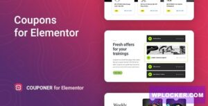 Download free Couponer v1.0.0 – Discount Coupons for Elementor