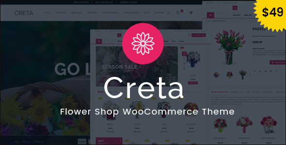 Download free Creta v4.9 – Flower Shop WooCommerce WordPress Theme