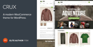 Download free Crux v2.2.0 – Modern and lightweight WooCommerce theme