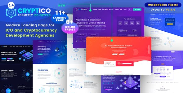 Download free Cryptico v1.4.7 – ICO Crypto Landing & Cryptocurrency Theme