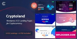 Download free Cryptoland v2.2.1 – ICO Landing Pages WordPress Theme