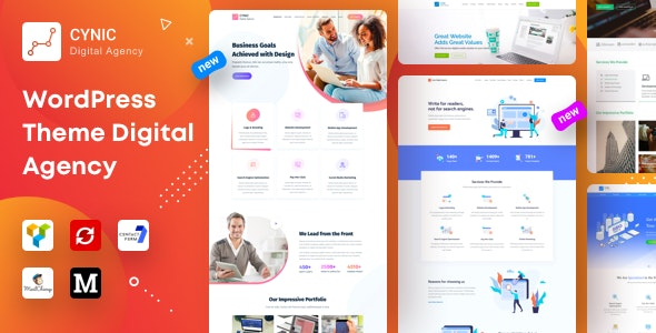 Download free Cynic v1.14 – Digital Agency WordPress Theme