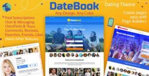 Download free DateBook v4.2 – Dating WordPress Theme