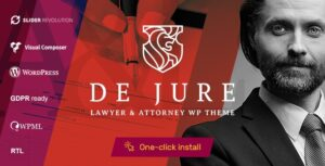 Download free De Jure v1.0.9 – Attorney and Lawyer WP Theme