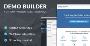 Download free Demo Builder for any WordPress Product v1.7.0