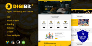 Download free DigiBit v1.6 – Cryptocurrency Mining WordPress Theme
