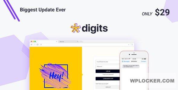 Download free Digits v7.3.3.3 – WordPress Mobile Number Signup and Login