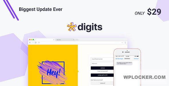 Download free Digits v7.3.3.6 – WordPress Mobile Number Signup and Login