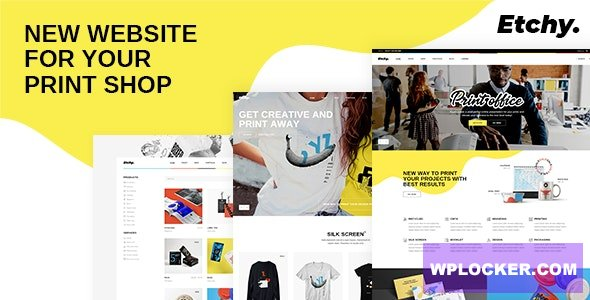 Download free Etchy v1.0 – Print Shop WordPress Theme