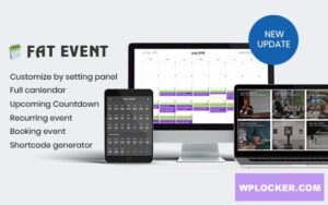 Download free FAT Event v4.3 – WordPress Event and Calendar Booking