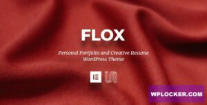 Download free FLOX v1.2 – Personal Portfolio & Resume WordPress Theme