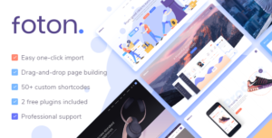 Download free Foton v1.6 – A Multi-concept Software Landing Theme