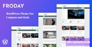 Download free Froday v2.6.0 – Coupons and Deals WordPress Theme