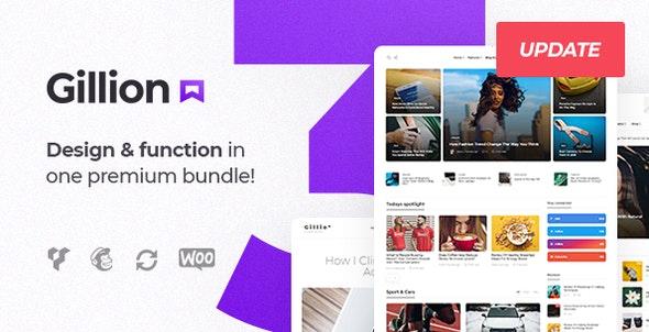 Download free Gillion v3.6.0 – Multi-Concept Blog/Magazine & Shop WordPress Theme