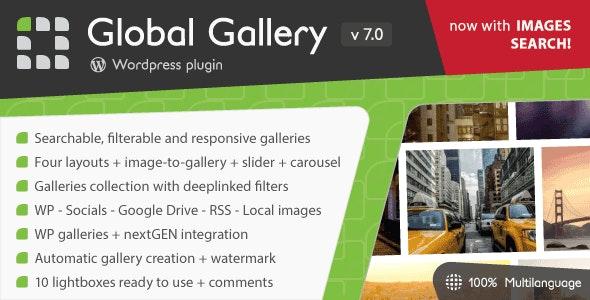 Download free Global Gallery v7.05 – WordPress Responsive Gallery