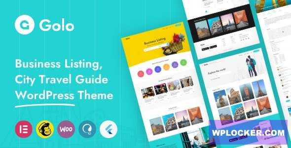 Download free Golo v1.3.4 – City Guide WordPress Theme