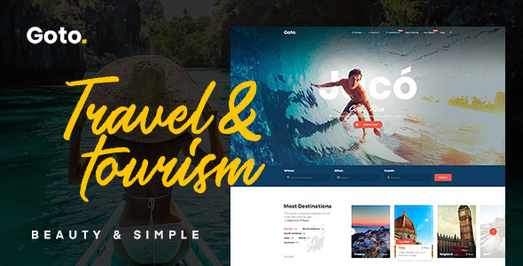 Download free Goto v1.8 – Tour & Travel WordPress Theme