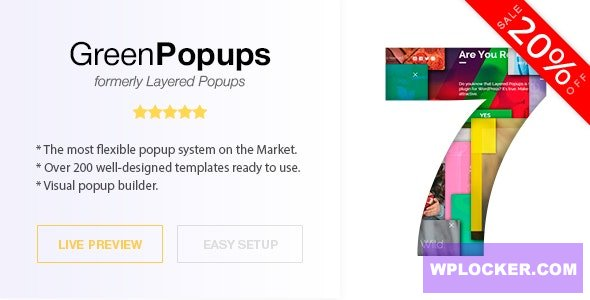 Download free Green Popups (formerly Layered Popups) v7.0.6 – Popup Plugin for WordPress