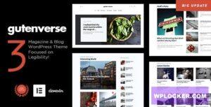 Download free GutenVerse v1.4 – Magazine and Blog Theme