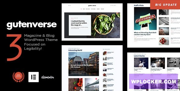 Download free GutenVerse v1.4 – Magazine and Blog Theme