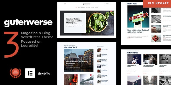 Download free GutenVerse v3.1 – Magazine and Blog Theme