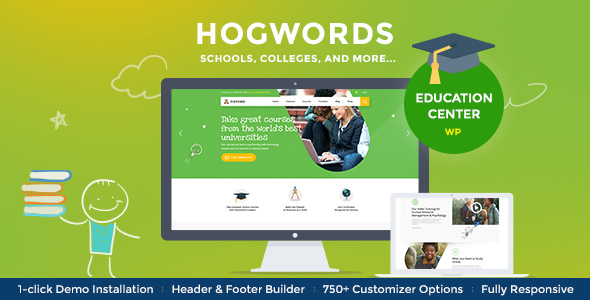Download free Hogwords v1.2.1 – Education Center WordPress Theme